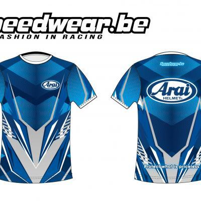 Arai T-shirt met sportieve look