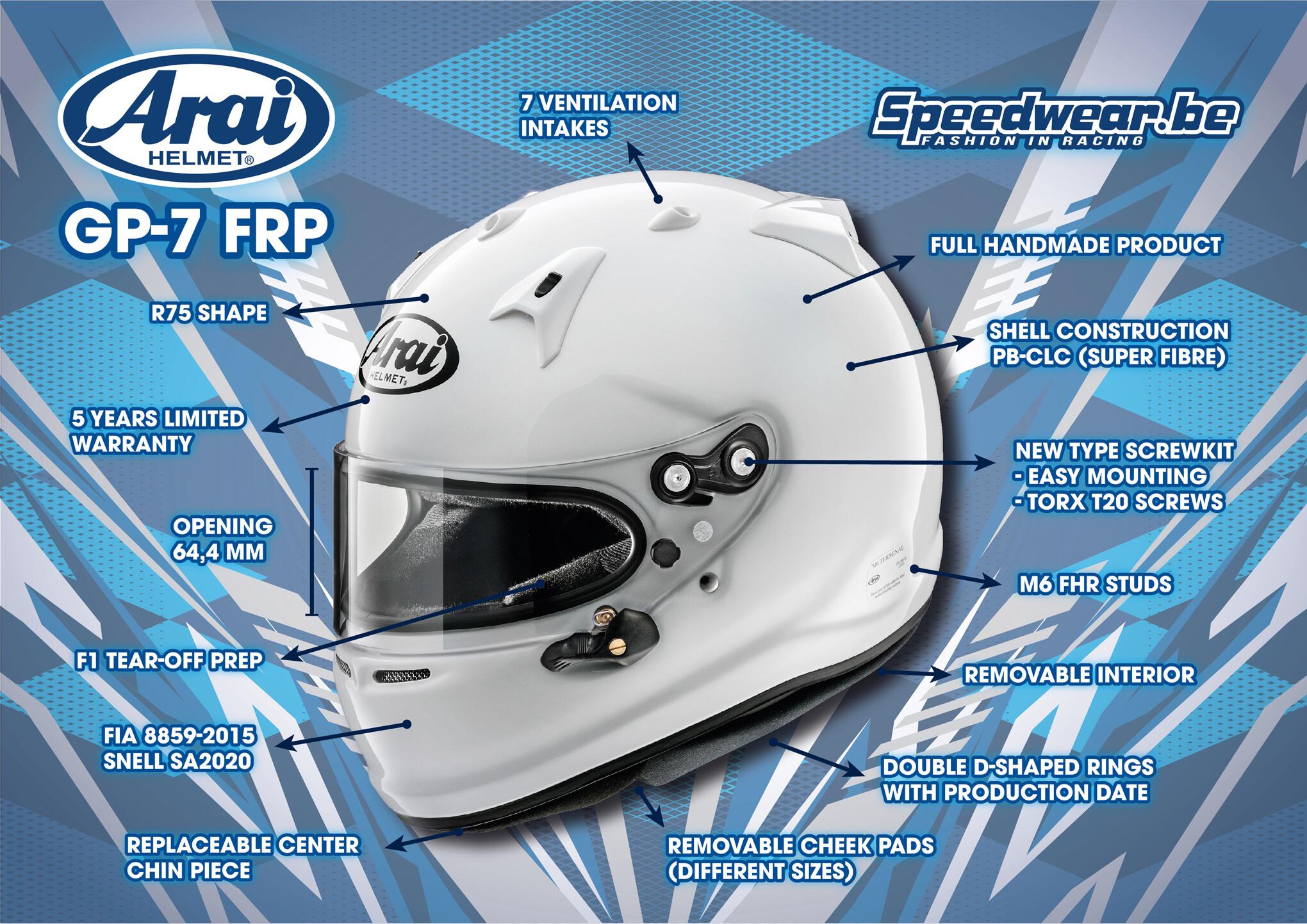 Arai GP7 FRP autosporthelm Details