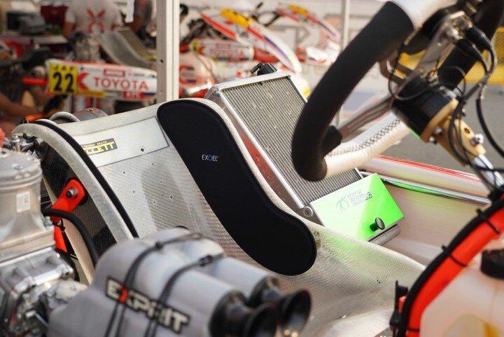 Exgel seat pad 17 voor kartstoel L-type