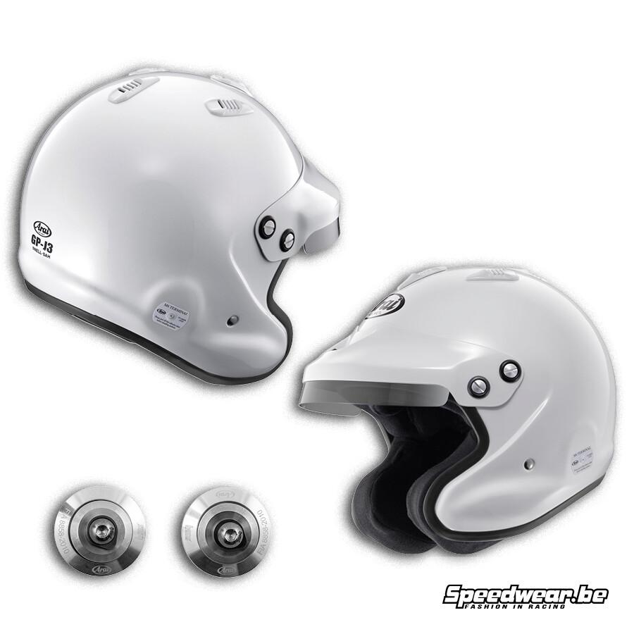 Arai helm GP Jet 3 Open helm met HANS Clips