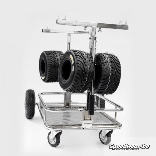 Kart Transporter met bandenhouder