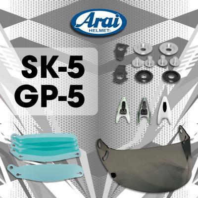 Arai helm SK5 & GP5 Toebehoren