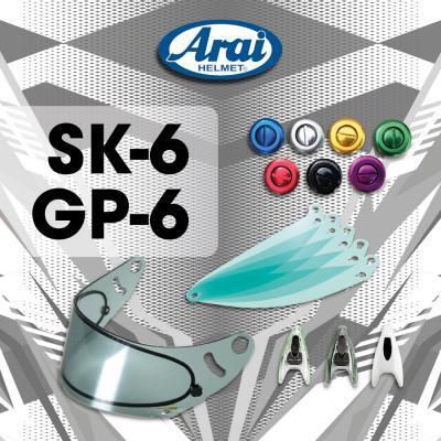 Arai helm SK6 & GP6 Toebehoren