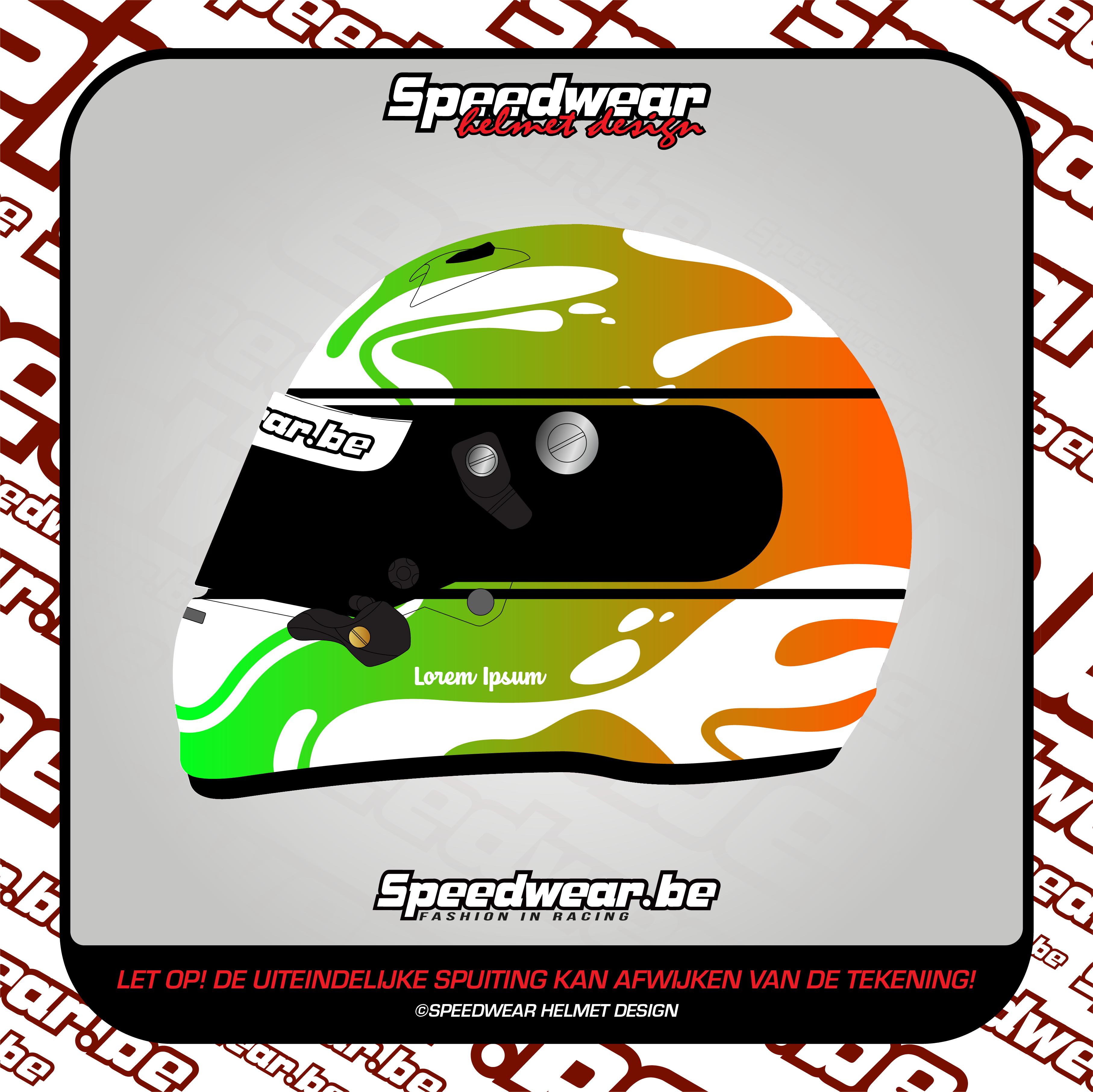 Zilver #3 Wit-Groen-Oranje