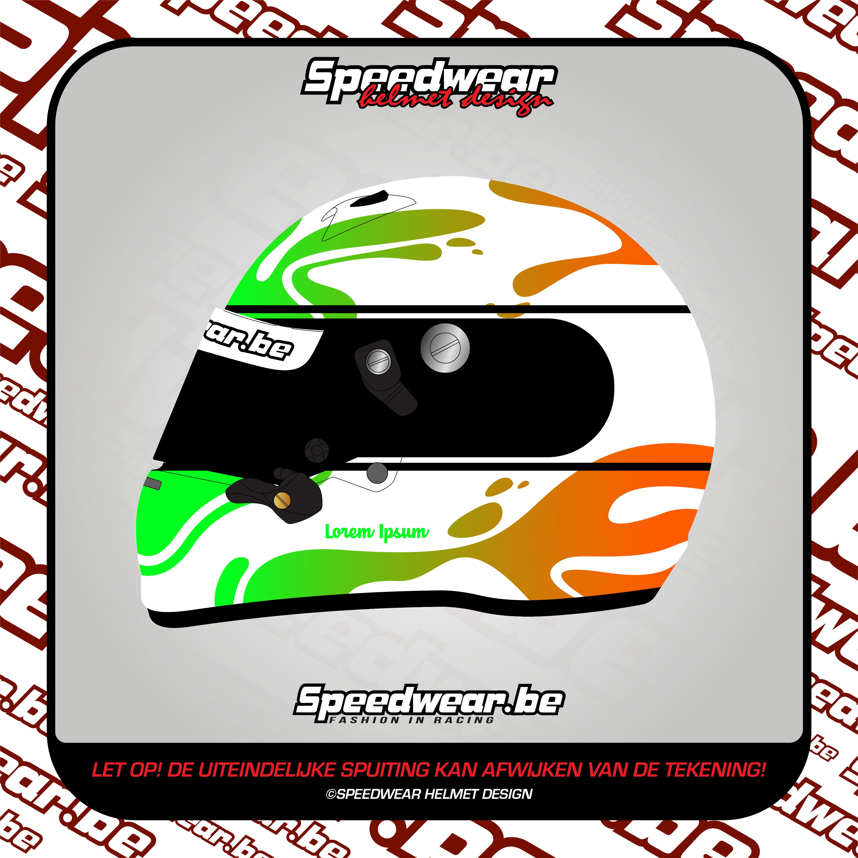 Zilver #4 Wit-Groen-Oranje