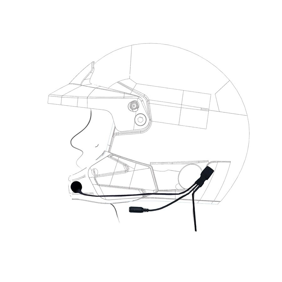 6300016 RADIO HELMET KIT FOR FULL FACE HELMET