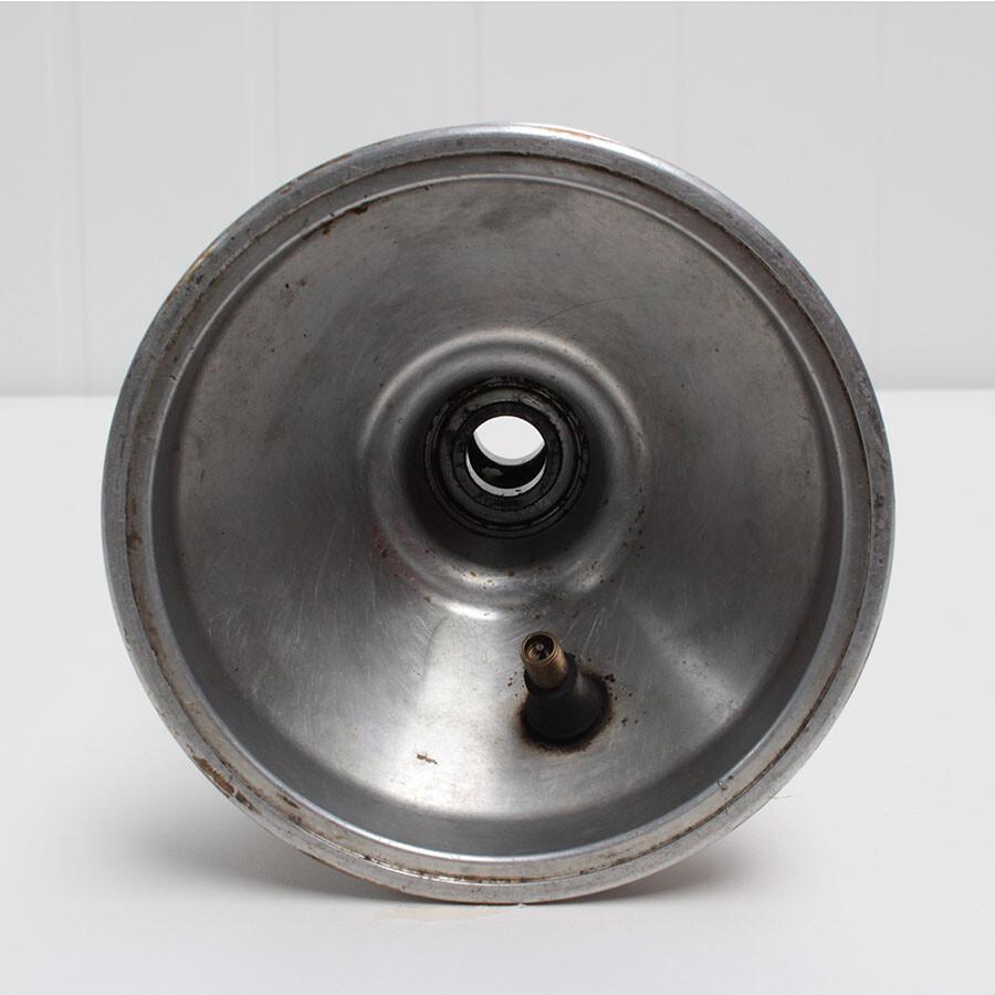 Aluminium kartvelg met lager 17mm 1stuk