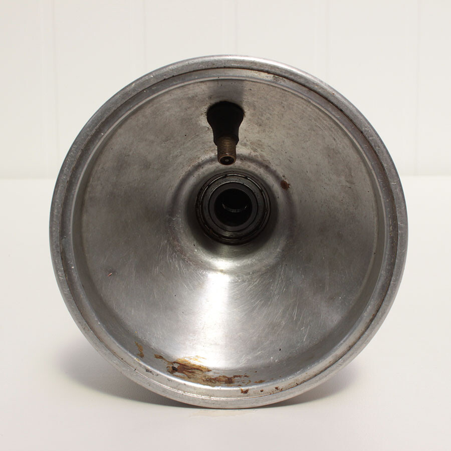 Aluminium kartvelg voorwiel met lager 17mm
