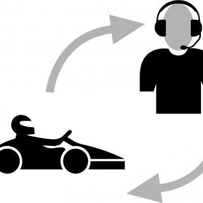 Communicatie auto & pit