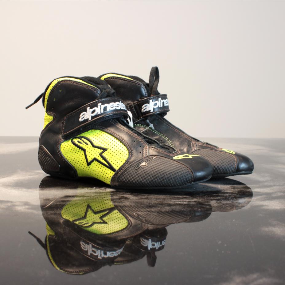 Alpinestars Tech 1-T Kartschoen Black Yellow Fluo