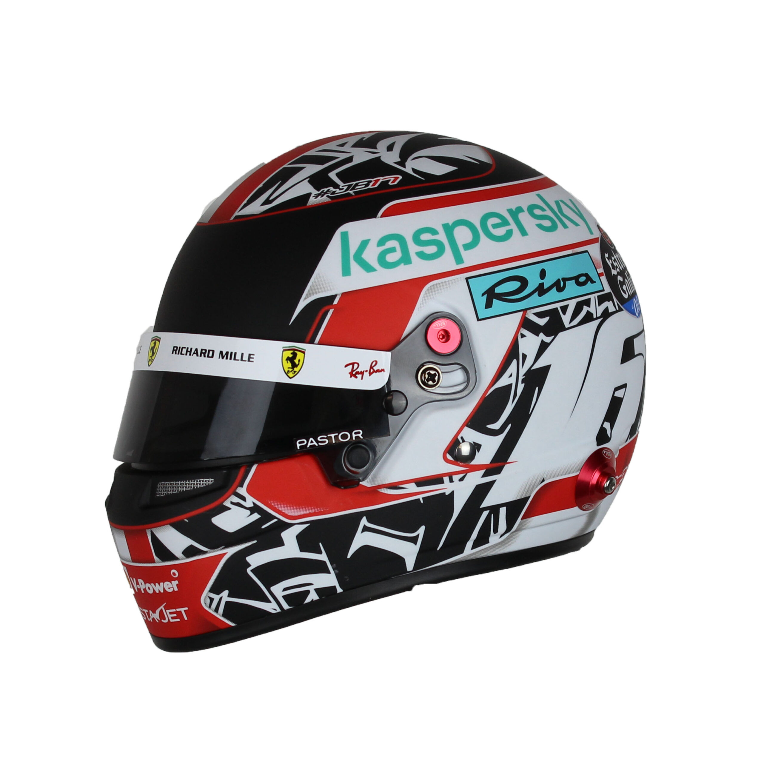 Charles Leclerc Mini Helm