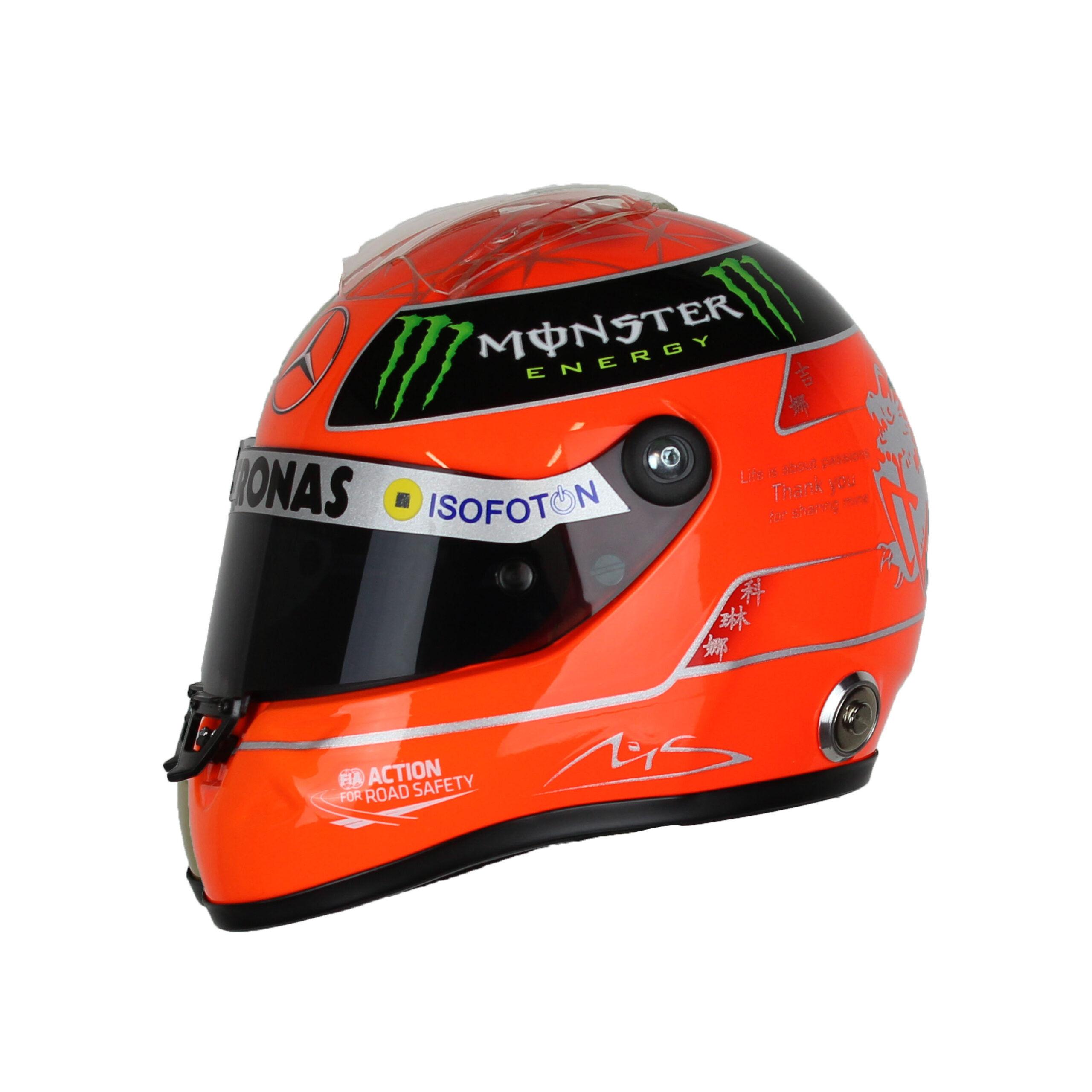 F1 Mini Helm 1/2 Michael Schumacher