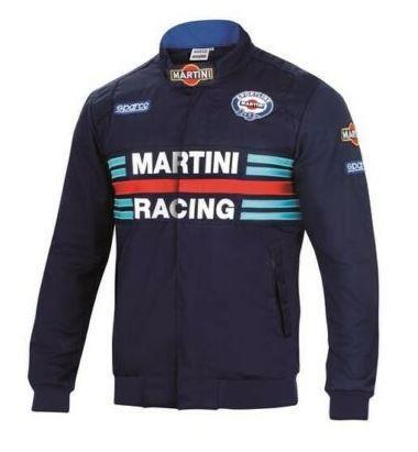 Sparco Replica Bomber Jacket Martini Racing Blue