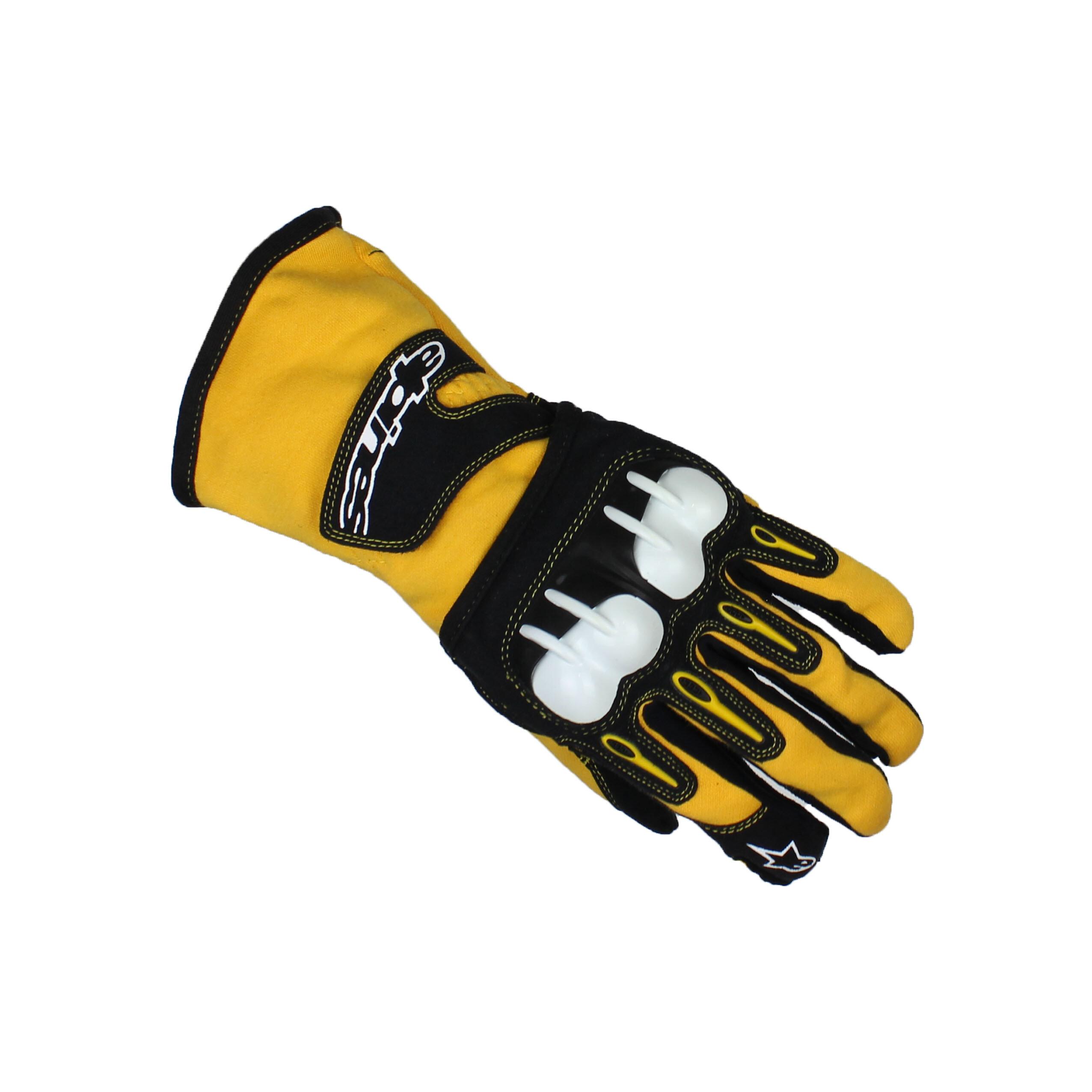 Alpinestars TECH 1-KV Karting Gloves Yellow/Black