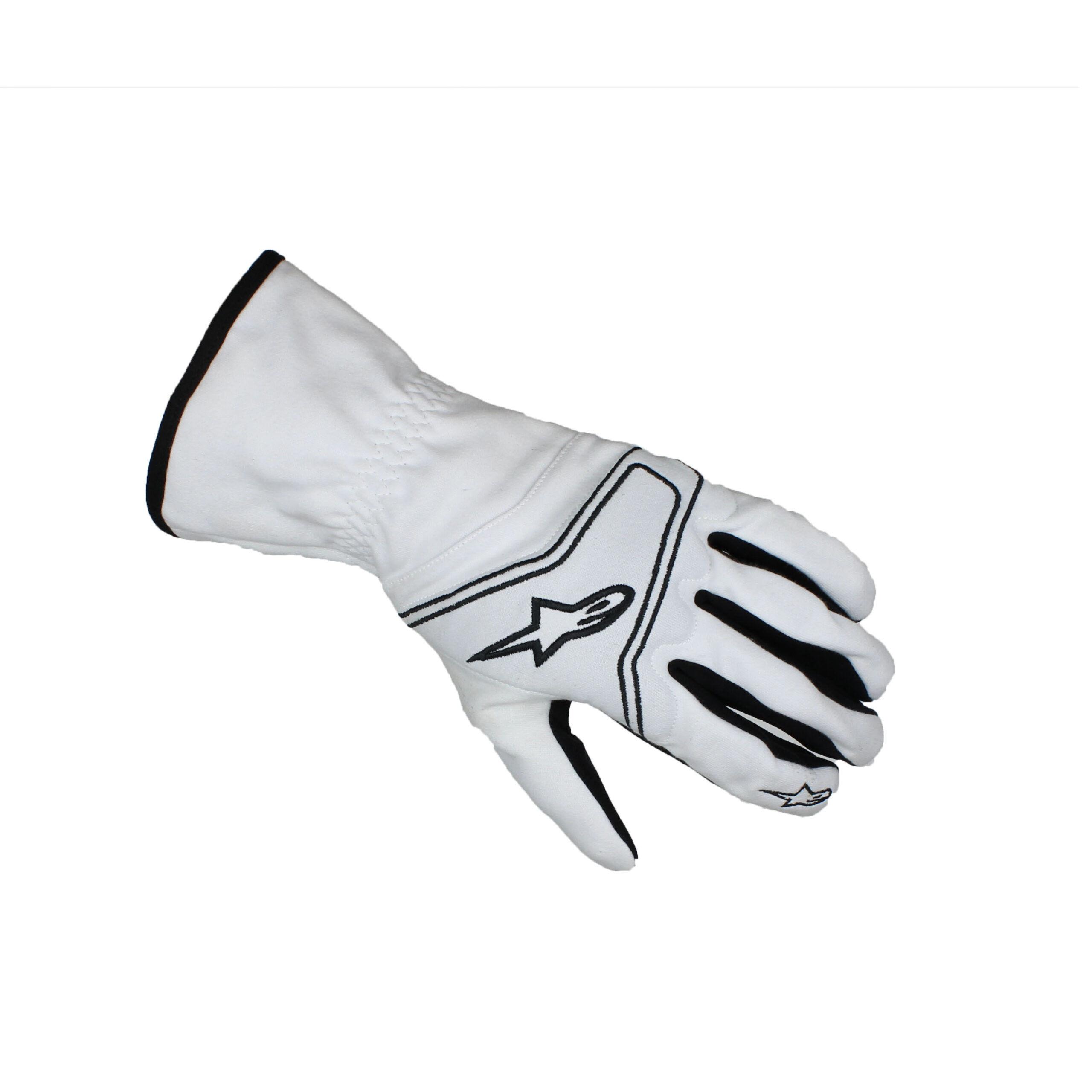 Alpinestars TECH 1-KR Karting Gloves White