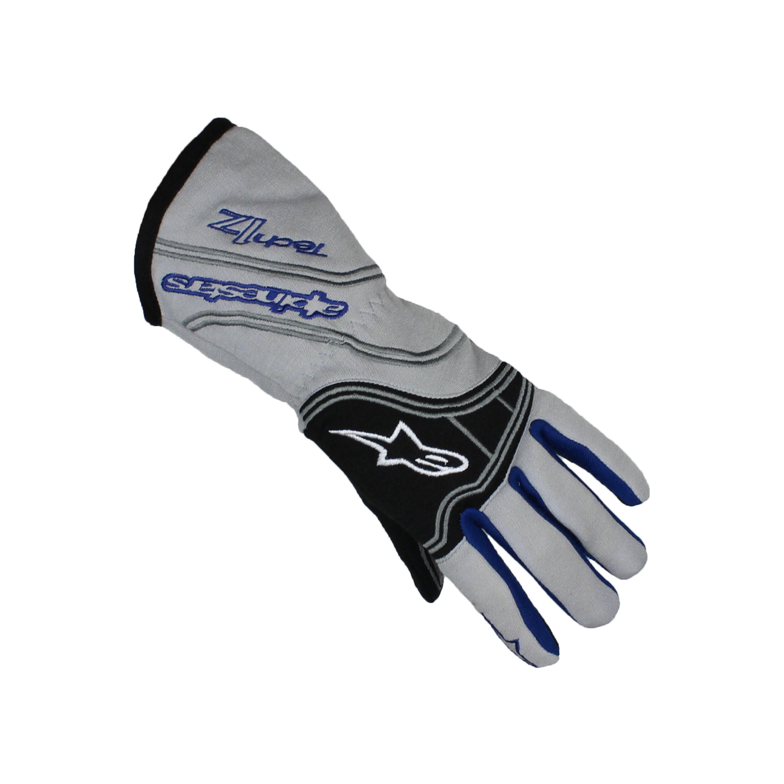 Alpinestars TECH 1-Z FIA Karting Gloves Silver/Blue