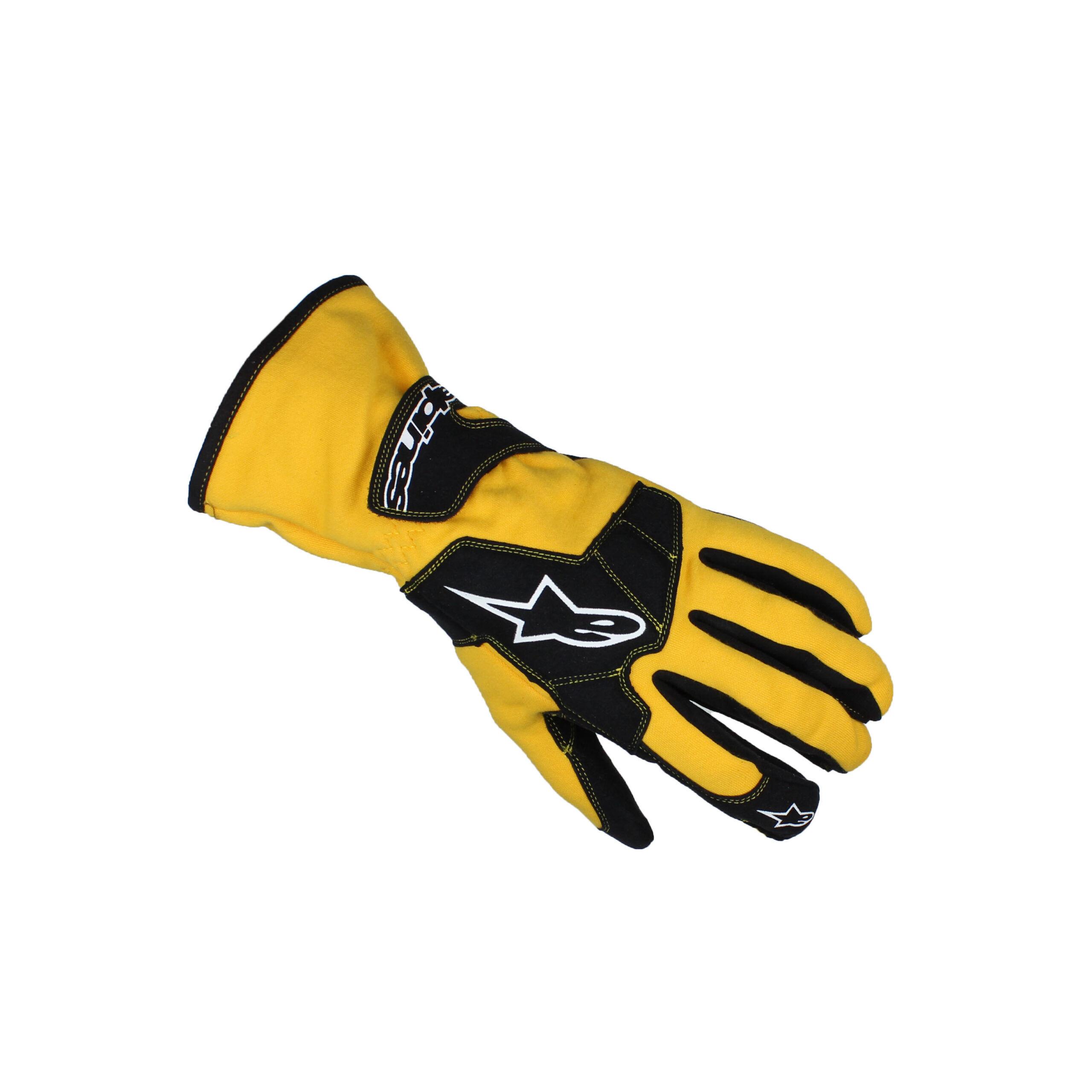 Alpinestars TECH 1-K Karting Gloves Yellow/Black