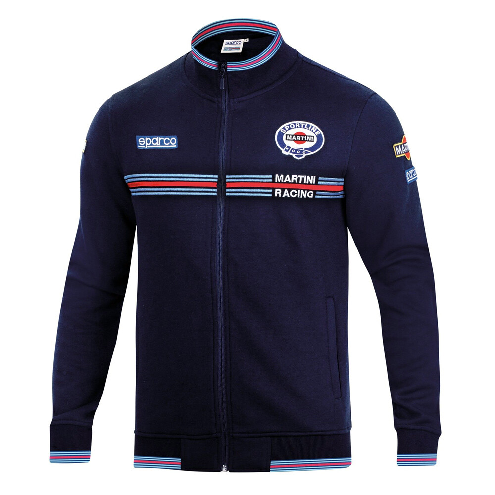 Sparco Full Zip Sweatshirt Martini Racing Blue