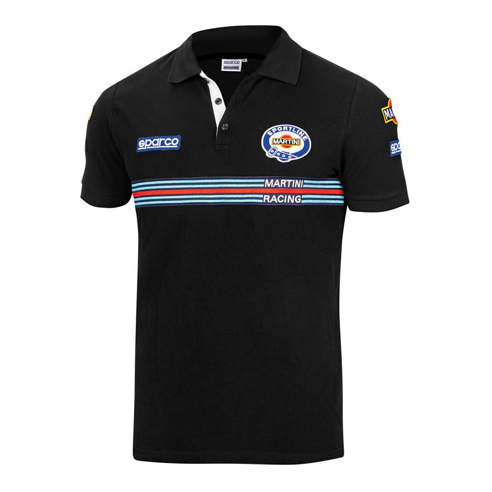 Sparco Polo Replica Patches Martini Racing Black