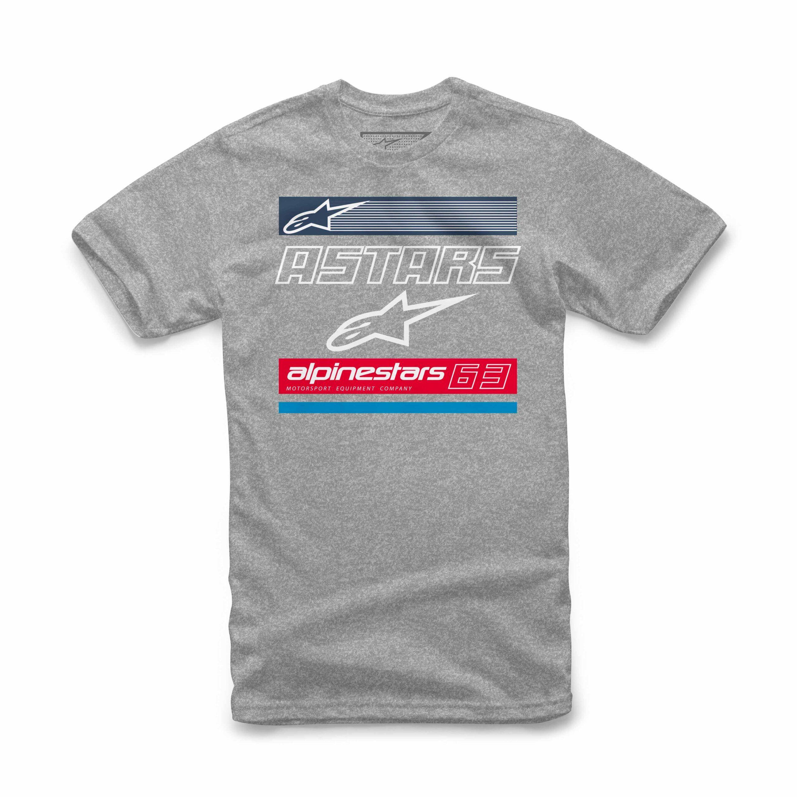 Alpinestars Astars 63 Tee - grijze mannen T-shirt