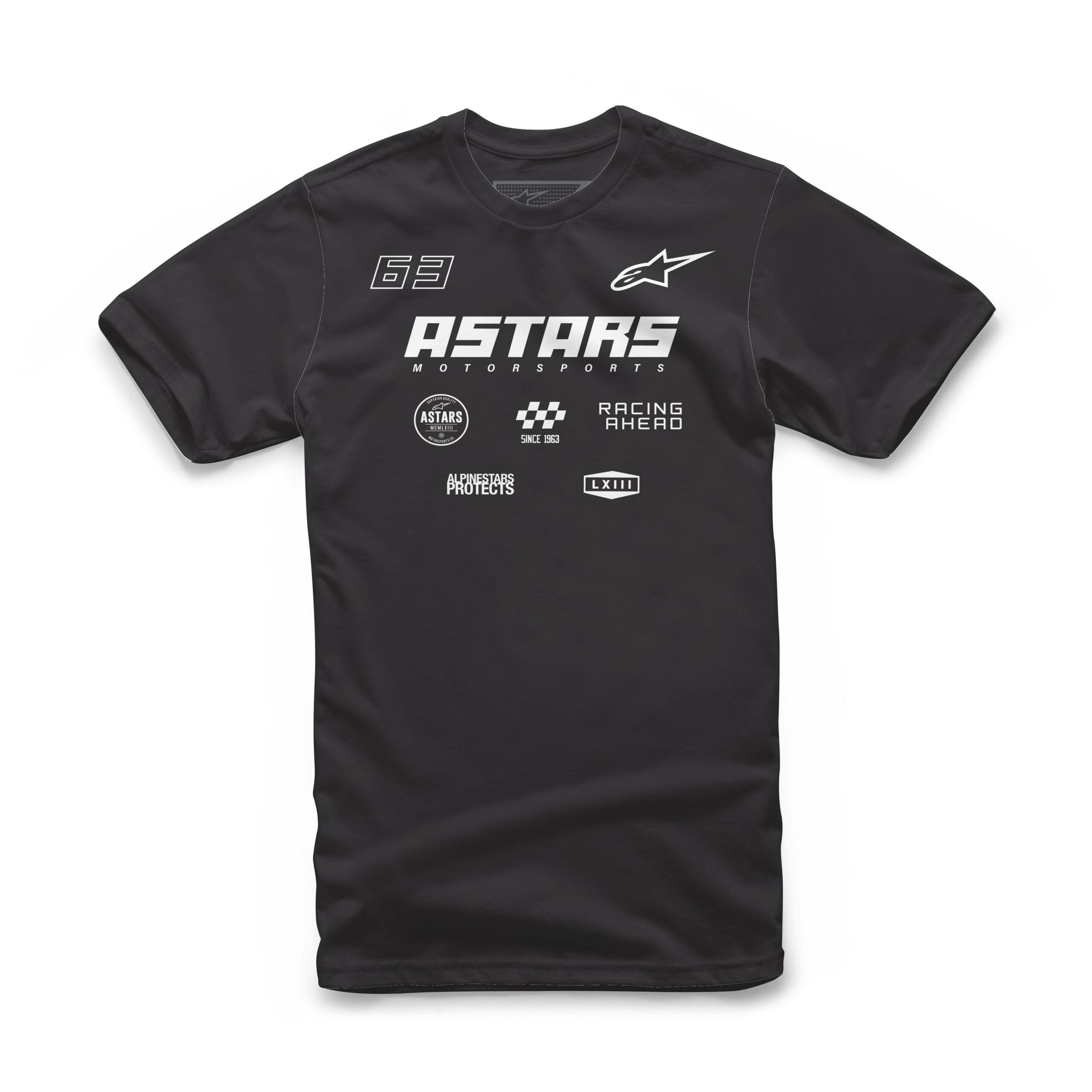 Alpinestars RACING AHEAD multi logo's mannen Tee zwart