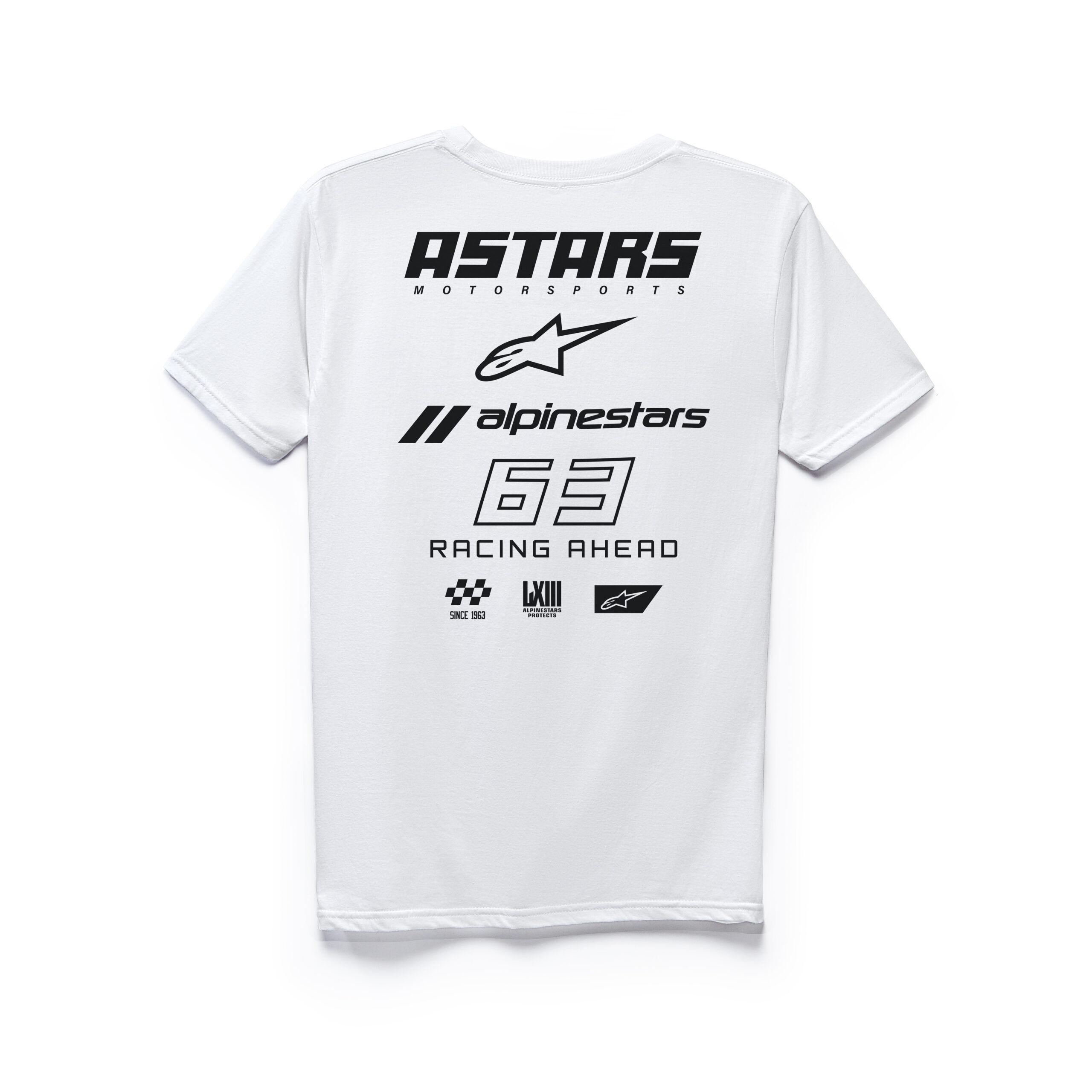 Alpinestars RACING AHEAD logo's wit - mannen Tee