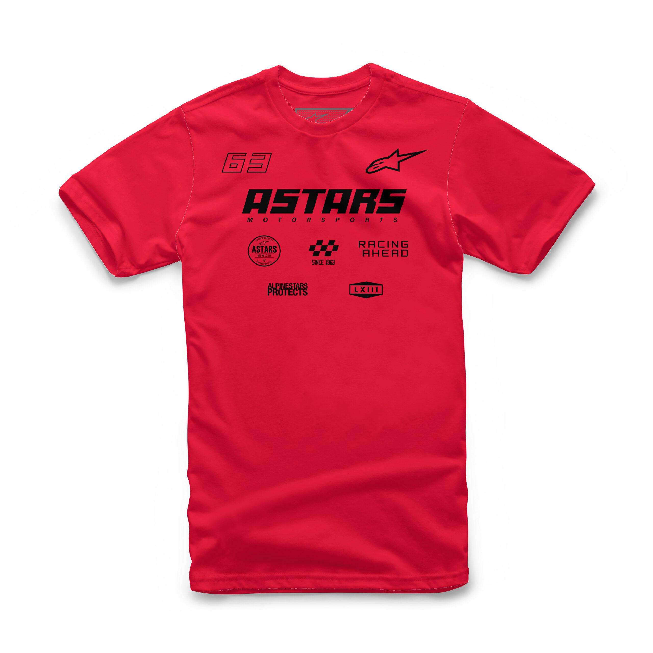 Alpinestars RACING AHEAD logo's Red - mannen T-shirt
