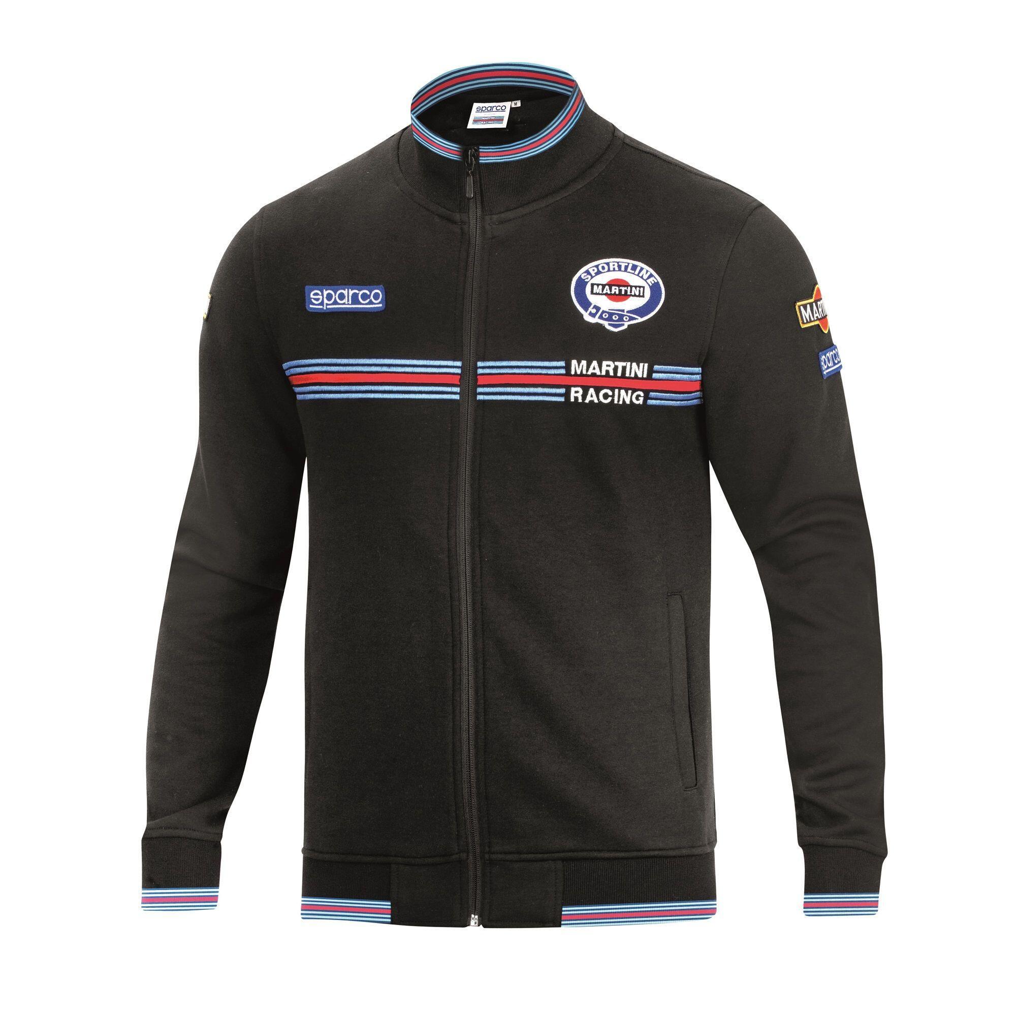 Sparco Full Zip Sweatshirt Martini Racing Black