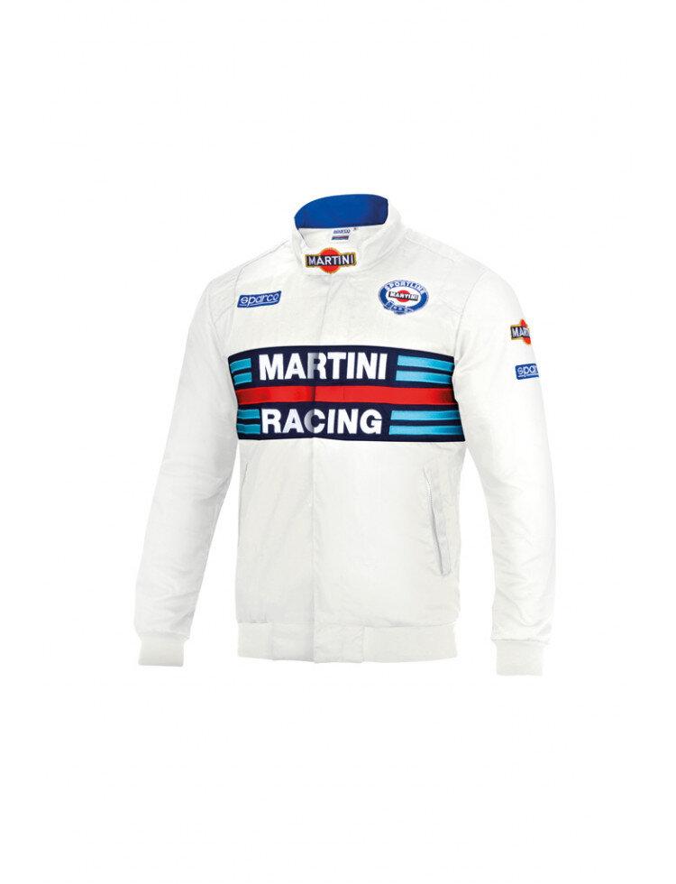 Sparco Replica Bomber Jacket Martini Racing white